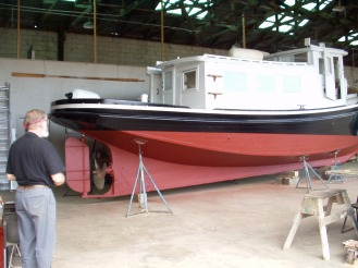 Tug boat restoration - paint job complete